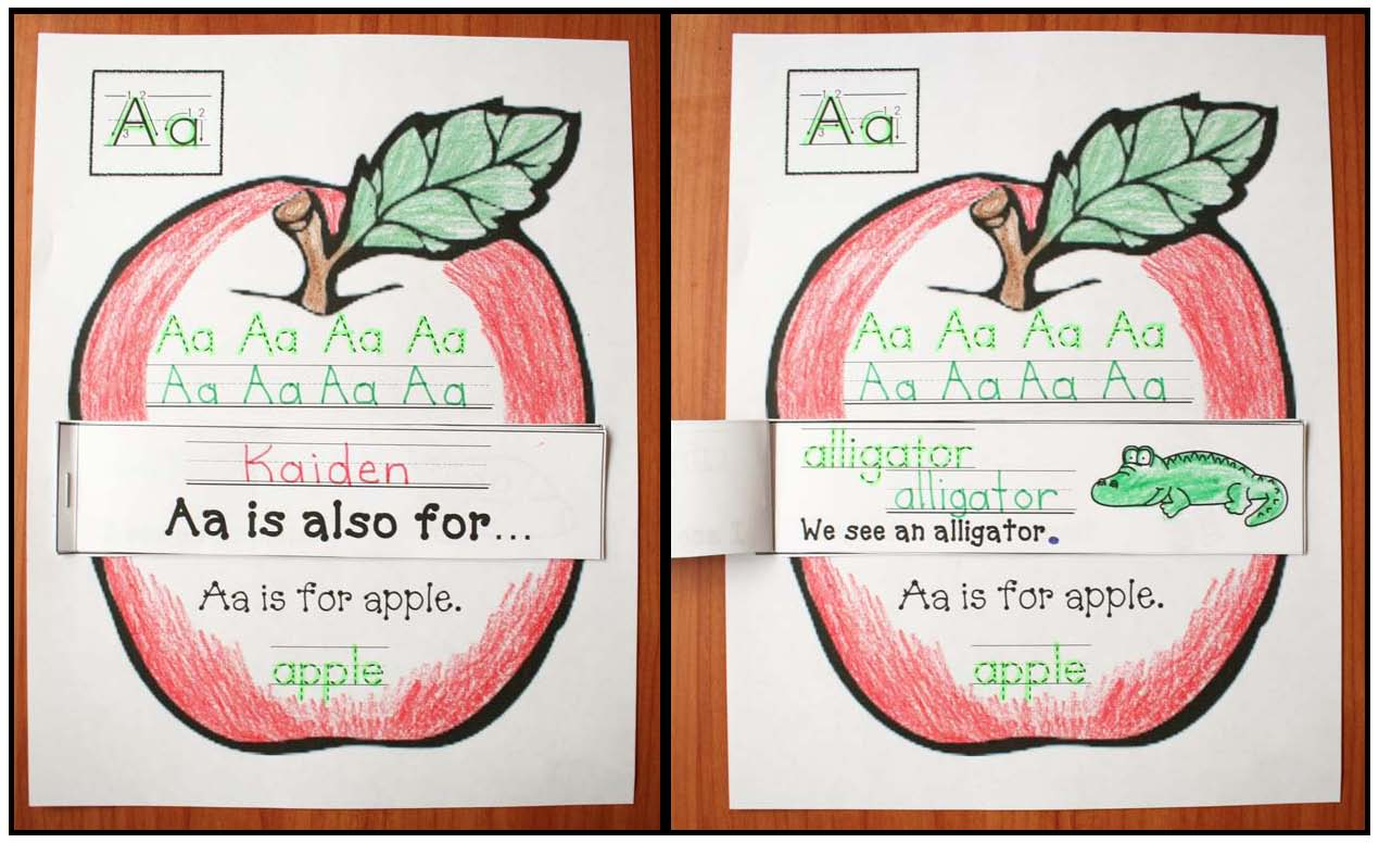Pages from Aa is for Apple Emergent Reader Game 2