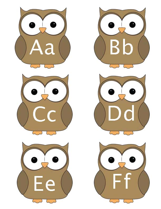 owl activities, owl crafts, alphabet games, alphabet activities, alphabet crafts