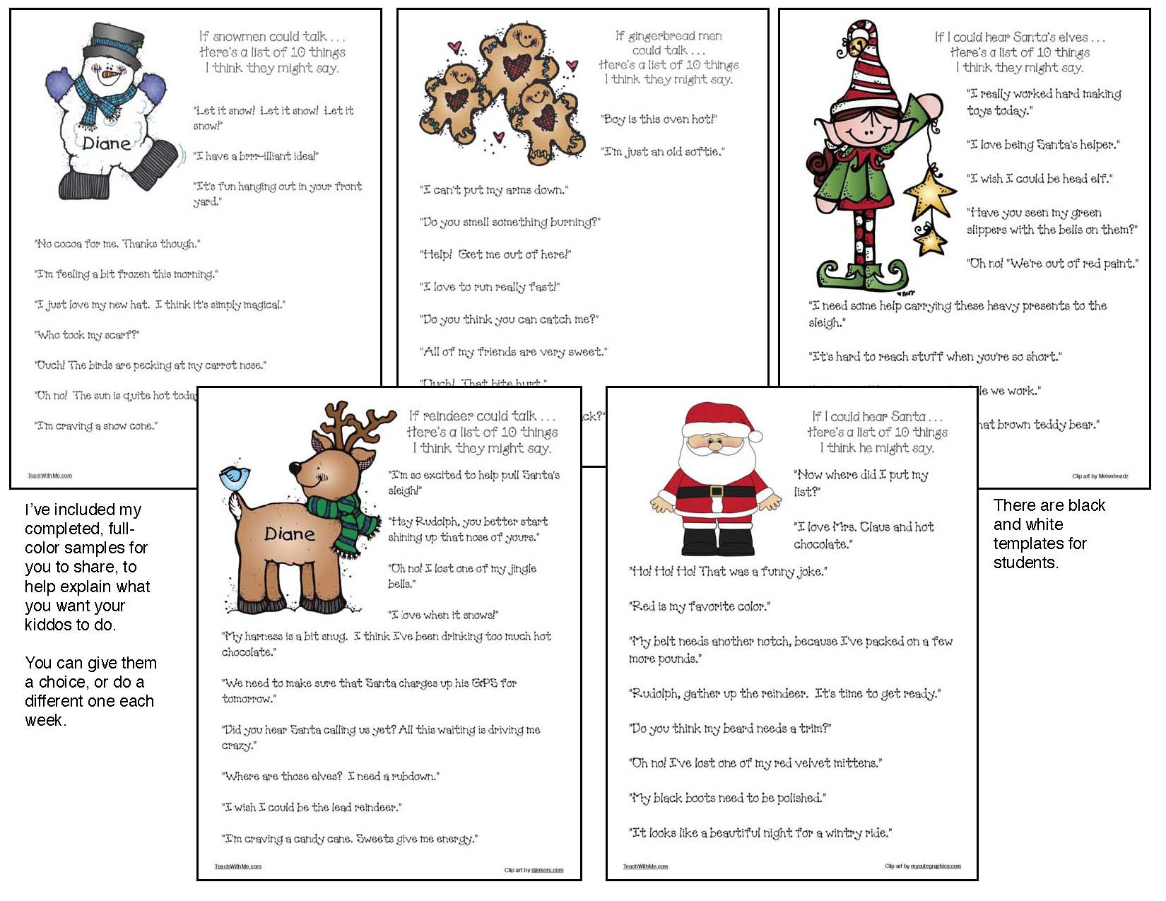 penguin activities, reindeer activities, snowman activities, snowflake activities, writing prompts for December, Christmas writing prompts, Venn diagrams,