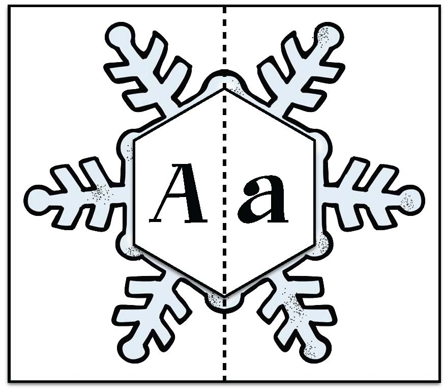 snowflake activities, alphabet activities, winter alphabet activities, letter art, letter crafts, snowflake poem, snowflake letter puzzles, January writing prompts, snowflake writing prompts