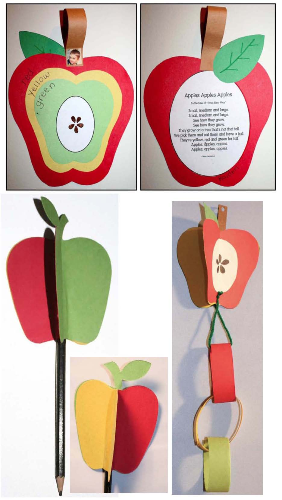 apple activities, apple games, apple crafts, 3 colors of apples, apple emergent reader,