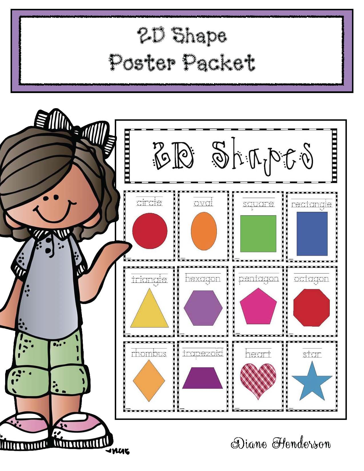 cov 2D shape poster packet