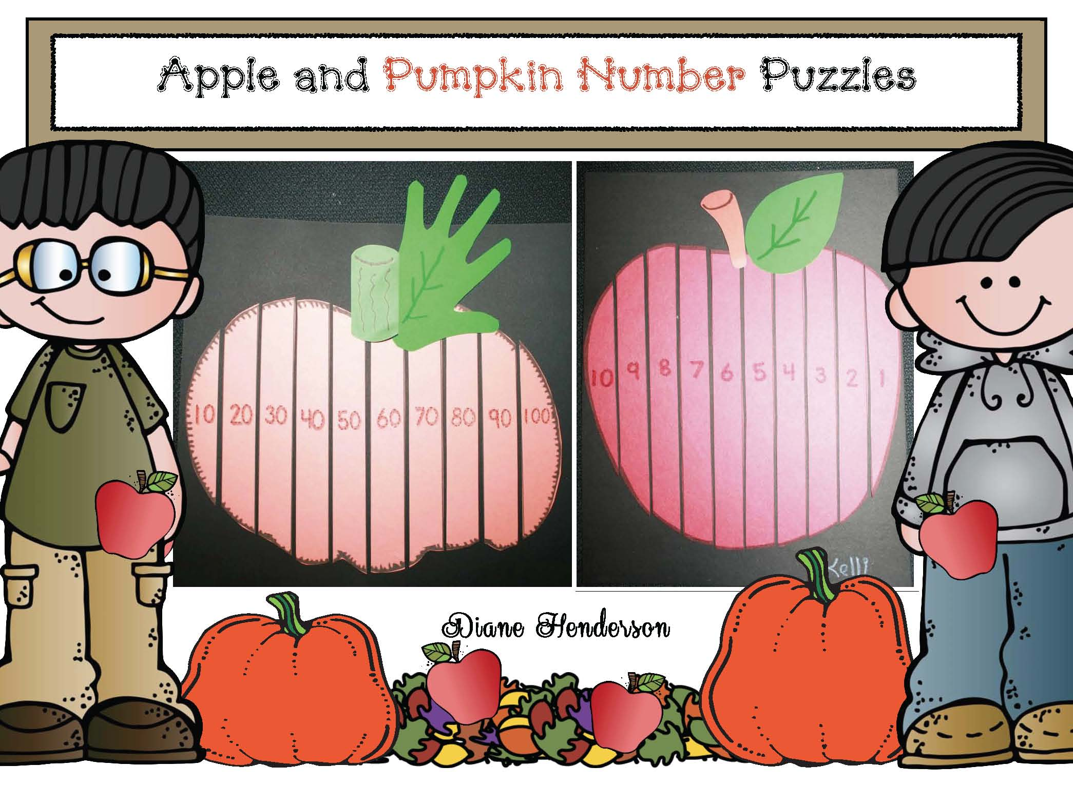 pumpkin activities, pumpkin crafts, apple activities, apple crafts, pumpkin puzzles, apple puzzles, skip counting activitivites, counting backwards activities