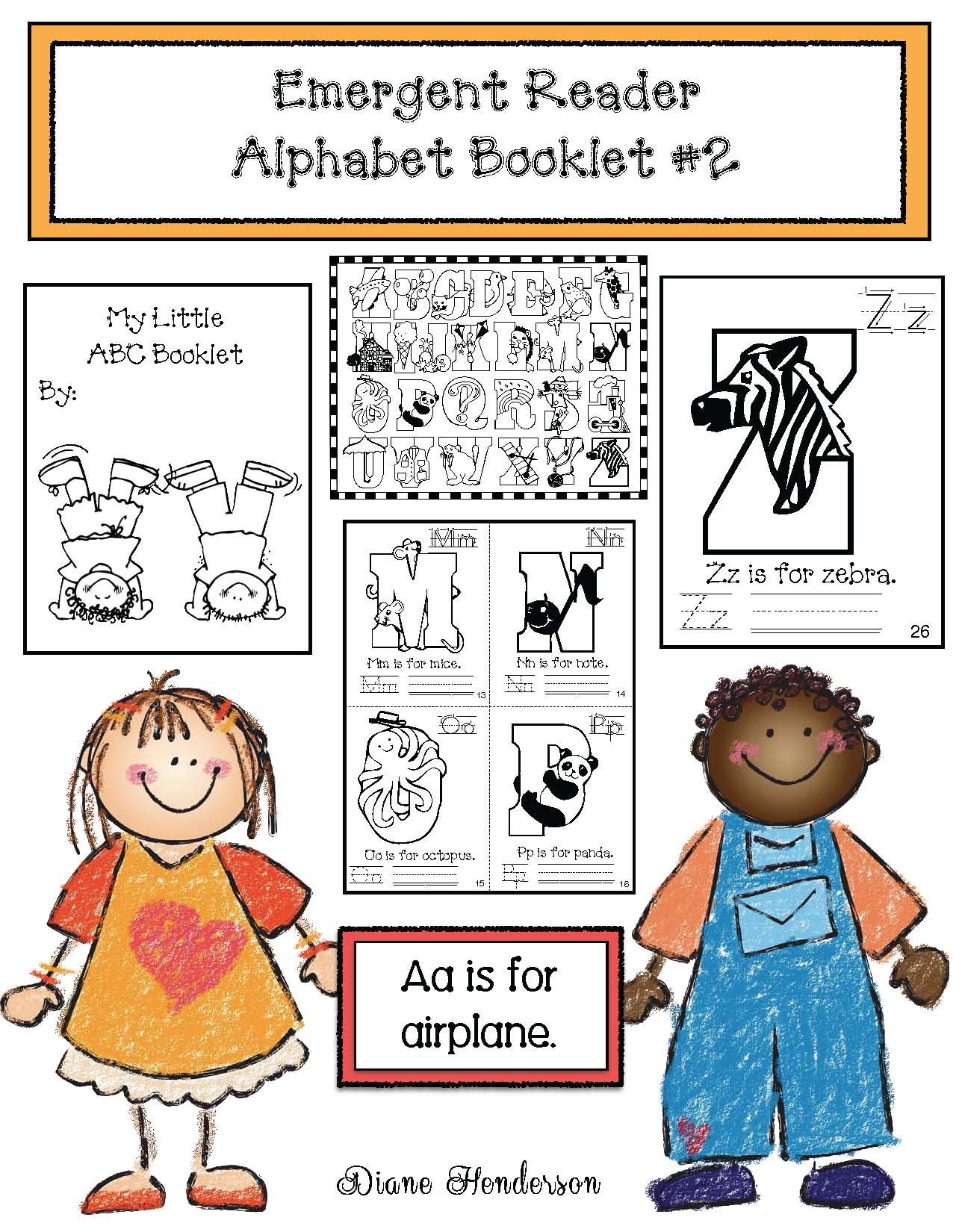 alphabet activitites, emergent readers, itty bitty booklets, alphabet games, alphabet posters, alphabet literacy centers.