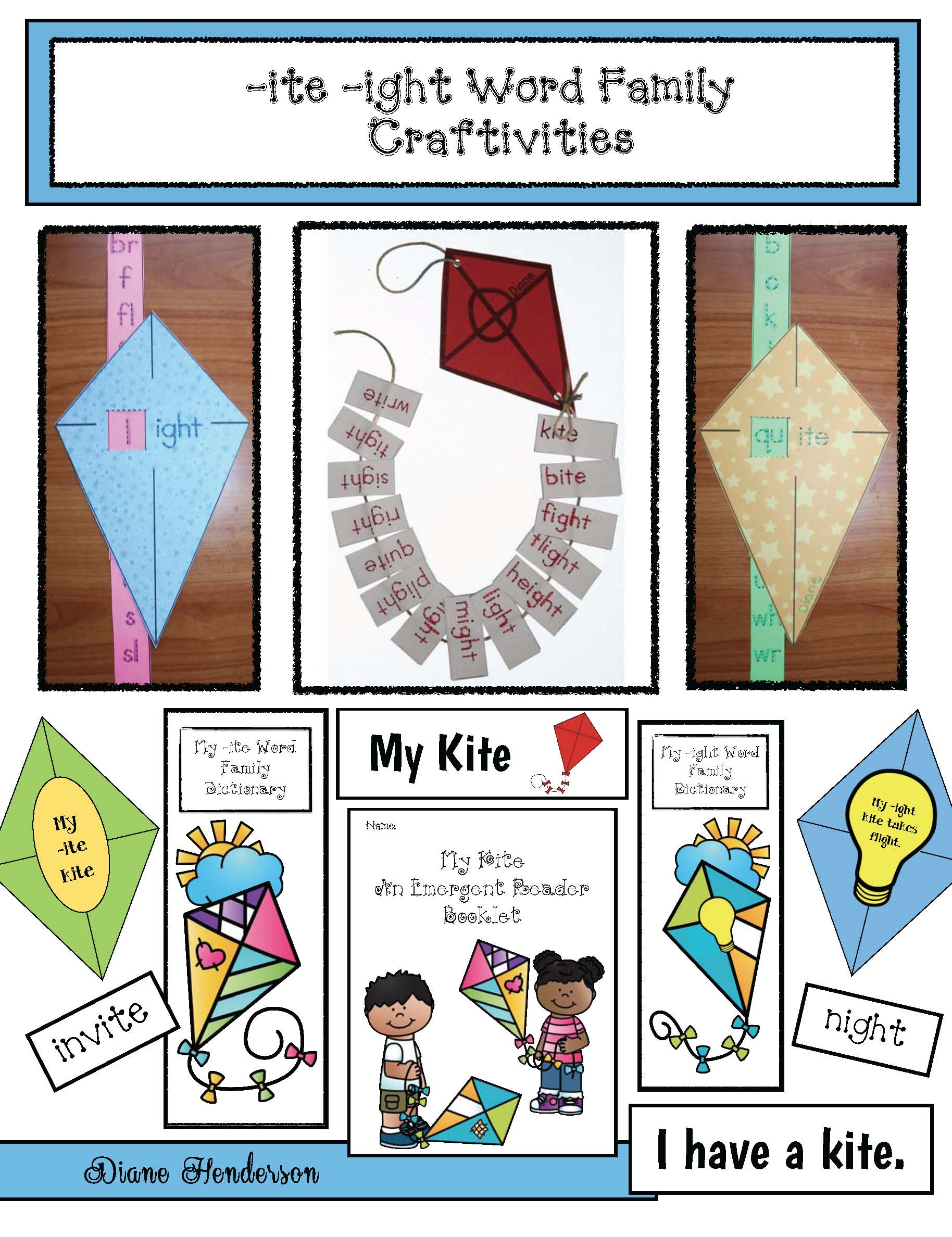 kite crafts, wind crafts, kite activites, wind activities, the wind blew activities, the wind blew activities, the wind blew story, ite and ight word family activities