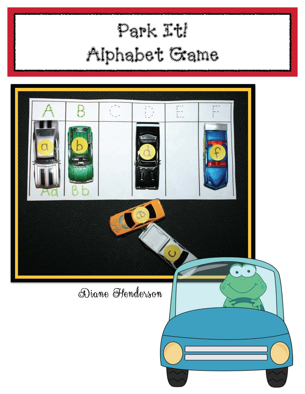 transportation activities, abc parking lot, alphabet activities, alphabet games, alphabet crafts, alphabet centers