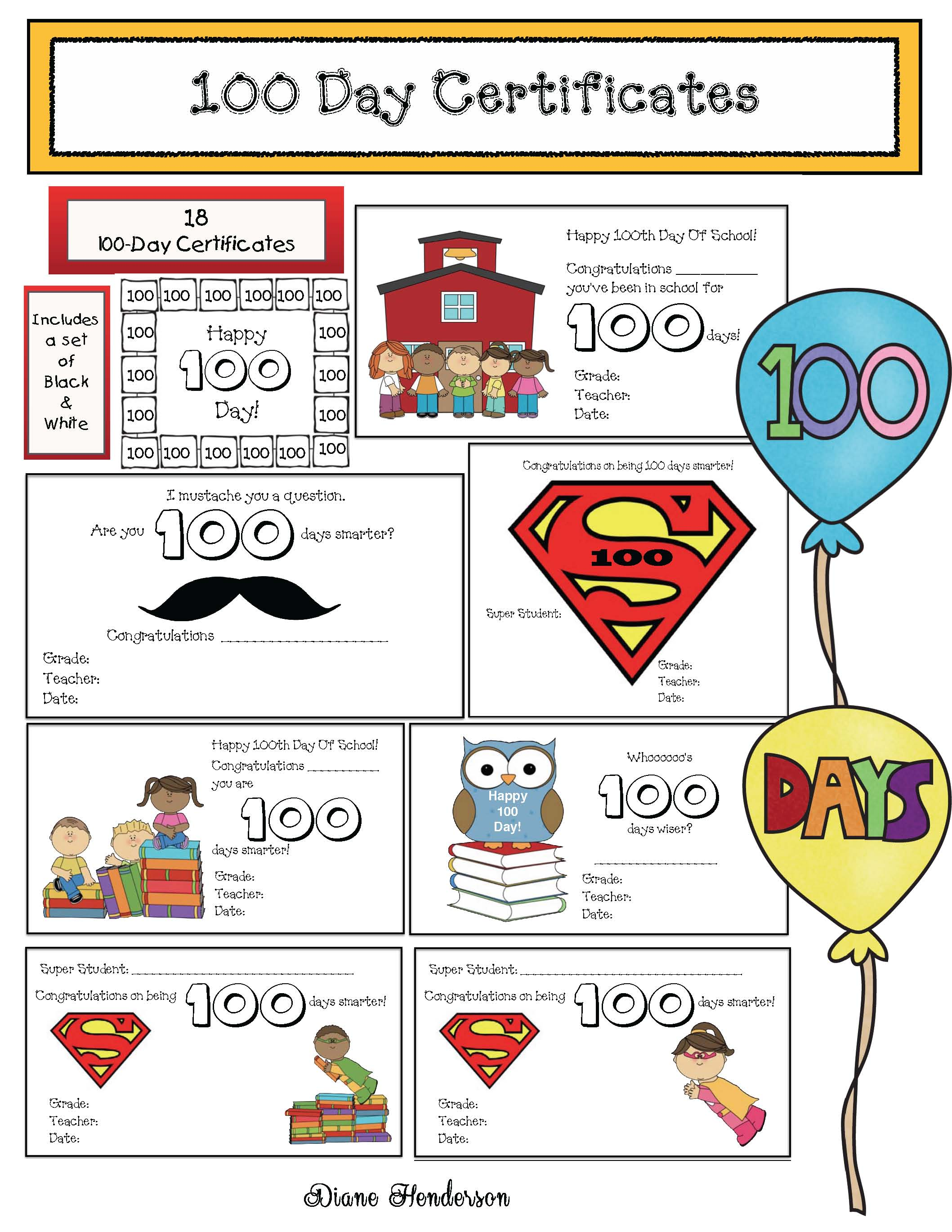 cover 100 days certificates