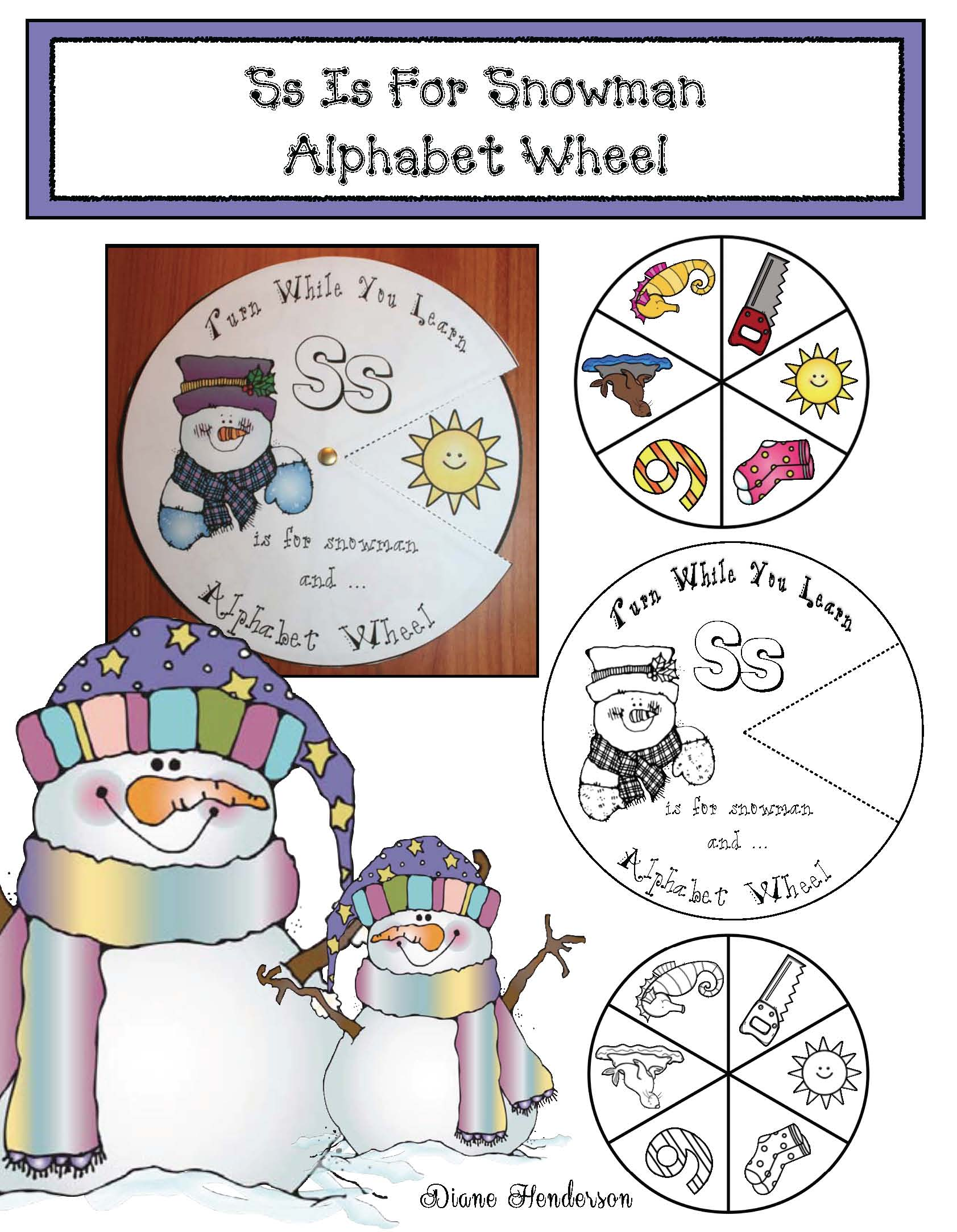 snowman activities, snowman crafts, January bulletin board ideas, snowman games, 2D shape activities, color word activities, color activities, alphabet wheels, alphabet activities, skip counting activities