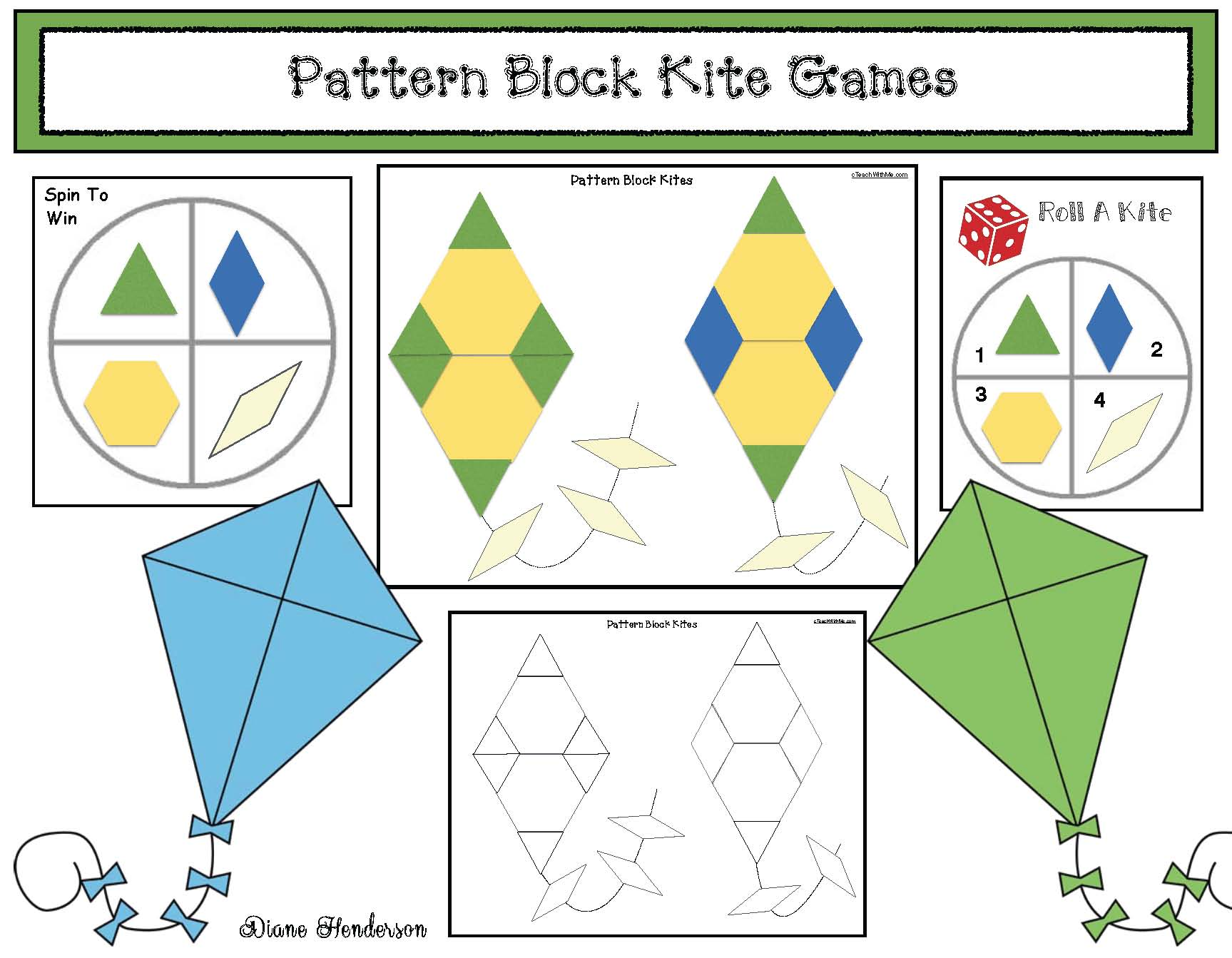 3D shapes, 3D shape activities, 3D shape posters, 3D shape photographs, kite activities, emergent readers for spring, pattern block activities, pattern block centers, synonym activities, ordinal number activities