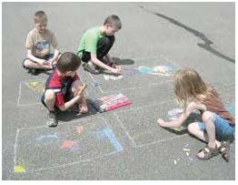 recipes for sidewalk chalk, activities to do with sidewalk chalk, back to school activities, treat bag ideas
