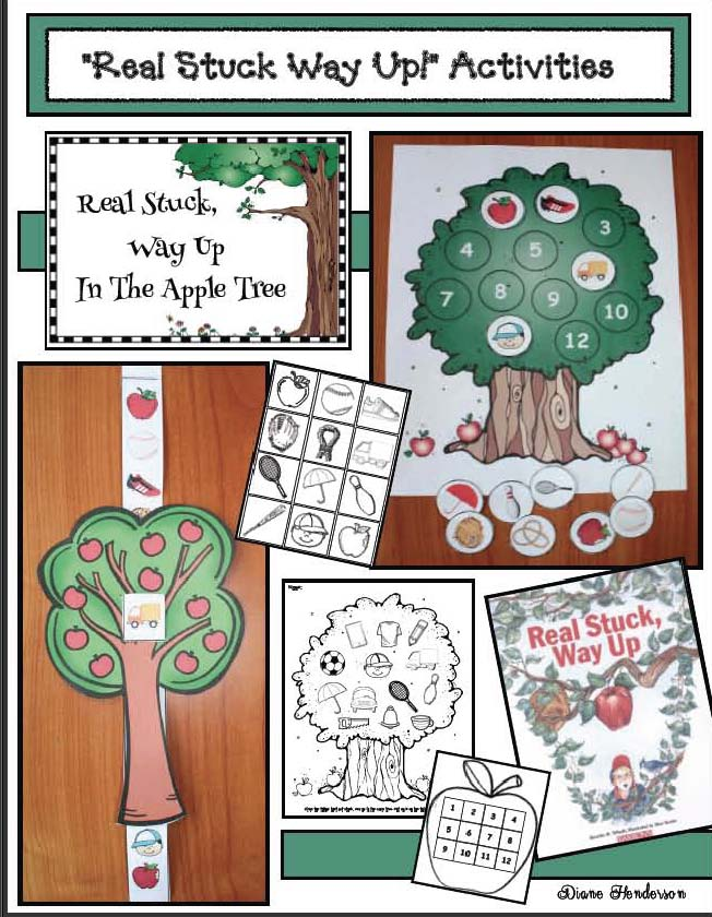 life cycle of an apple activities, life cycle of an apple crafts, apple crafts, apple activities, activities for Real Stuck Way Up story, apple games, apple songs, apple writing prompts