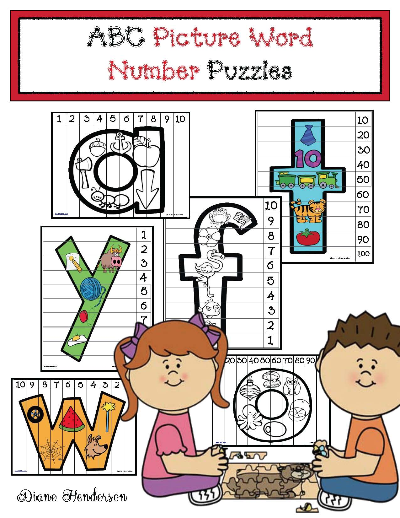 number puzzles, alphabet puzzles, alphabet activities, alphabet games, alphabet crafts, back to school gifts, back to school activities,
