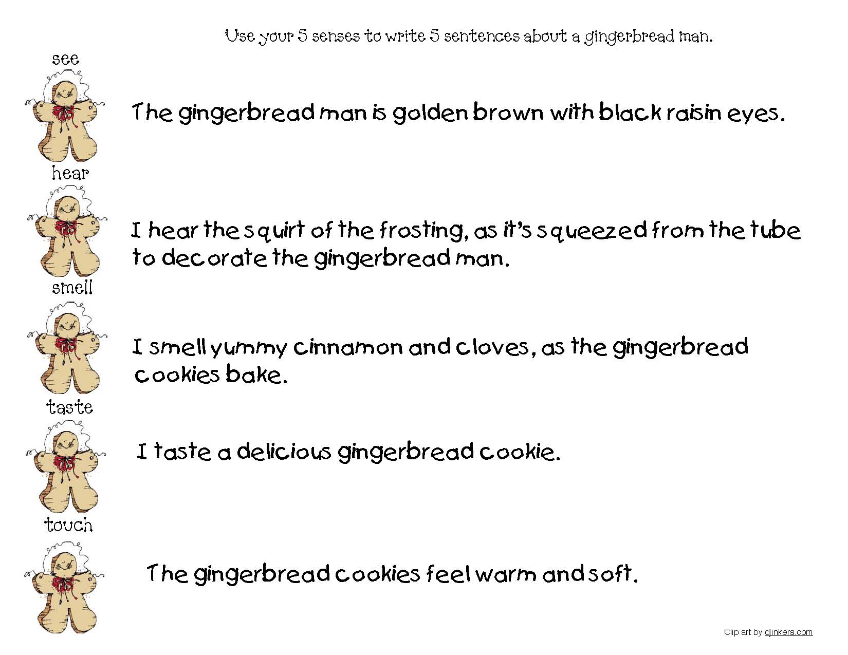 Pages from Gingerbread Parts Of Speech Posters, gingerbread activities, gingerbread crafts, gingerbread house activities, december bulletin boards, december bulletin board ideas, gingerbread man class book, parts of speech activities, verb activities, adjective activities, parts of speech posters, free parts of speech anchor charts, December class made books, making a class book