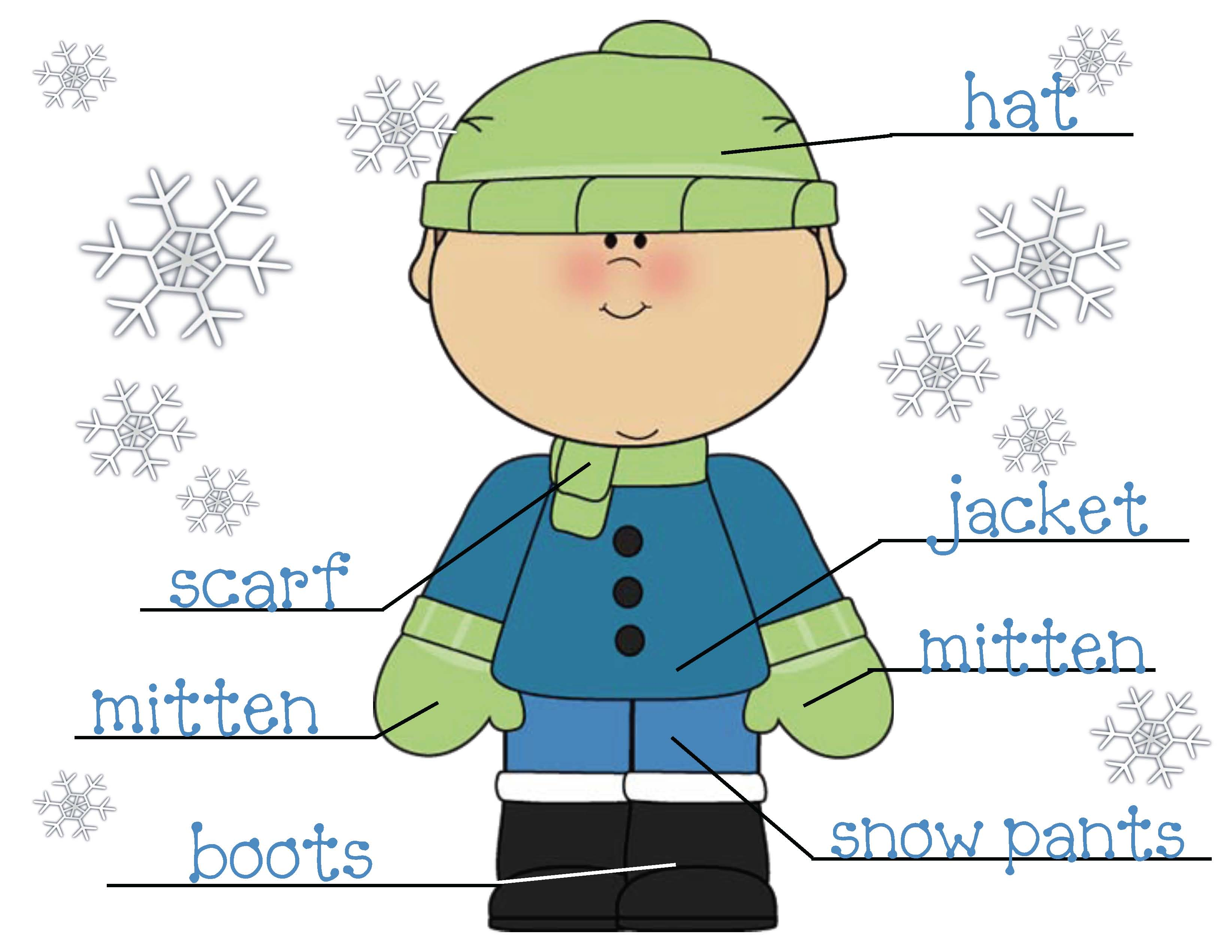winter cothing games, winter clothing activities, winter worksheeets, writing prompts for January, activities to go with the story The Jacket I'll Wear in the Snow, color games, word games