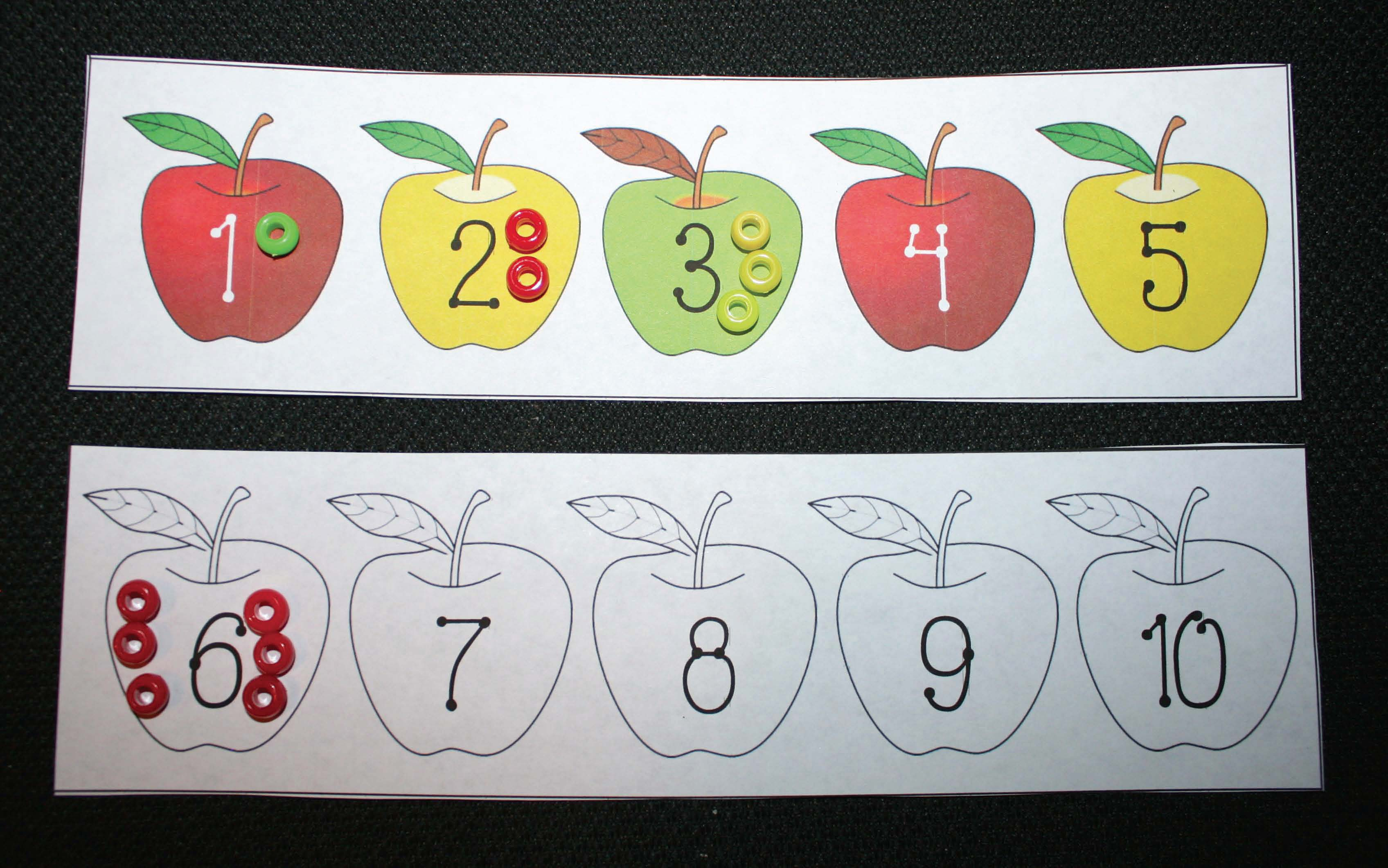 apples games, apple activities, apple centers, apple counting