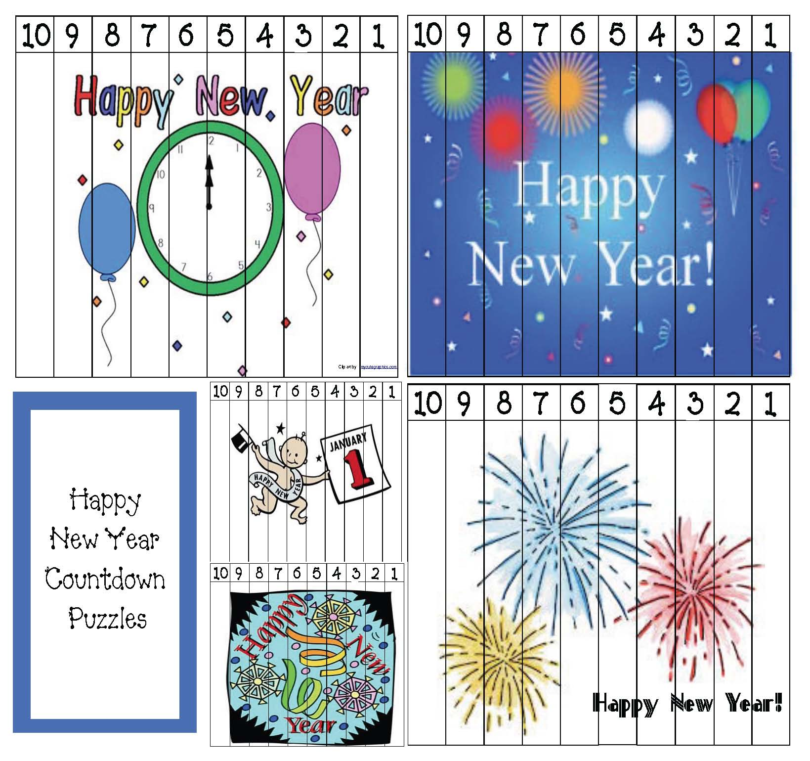happy new year activities, new year activities, new year writing prompts, new year puzzles, number puzzles, new year crafts, new year bulletin boards, january bulletin boards, new year glasses pattern, january writing prompts, winter bulletin boards, january bulletin boards