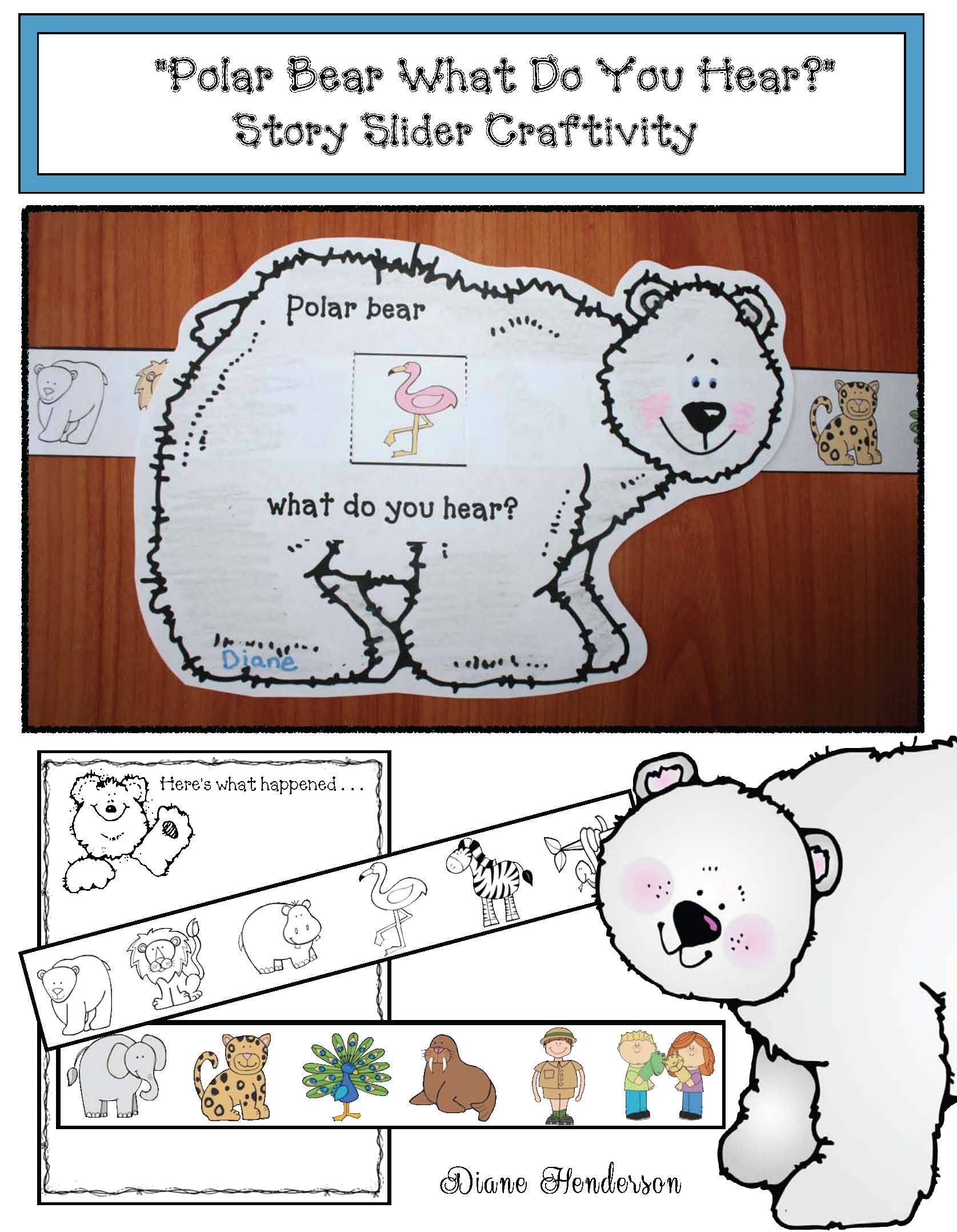 storytelling sliders, pete the cat activities, polar bear what do you see activities, poloar bear crafts, if you give a mouse a cookie activities, mice crafts, mice activities, polar bear activities, brown bear what do you see activities, back to school writing prompts, back to school crafts, back to school icebreakers, selfie craft, selfie writing prompt