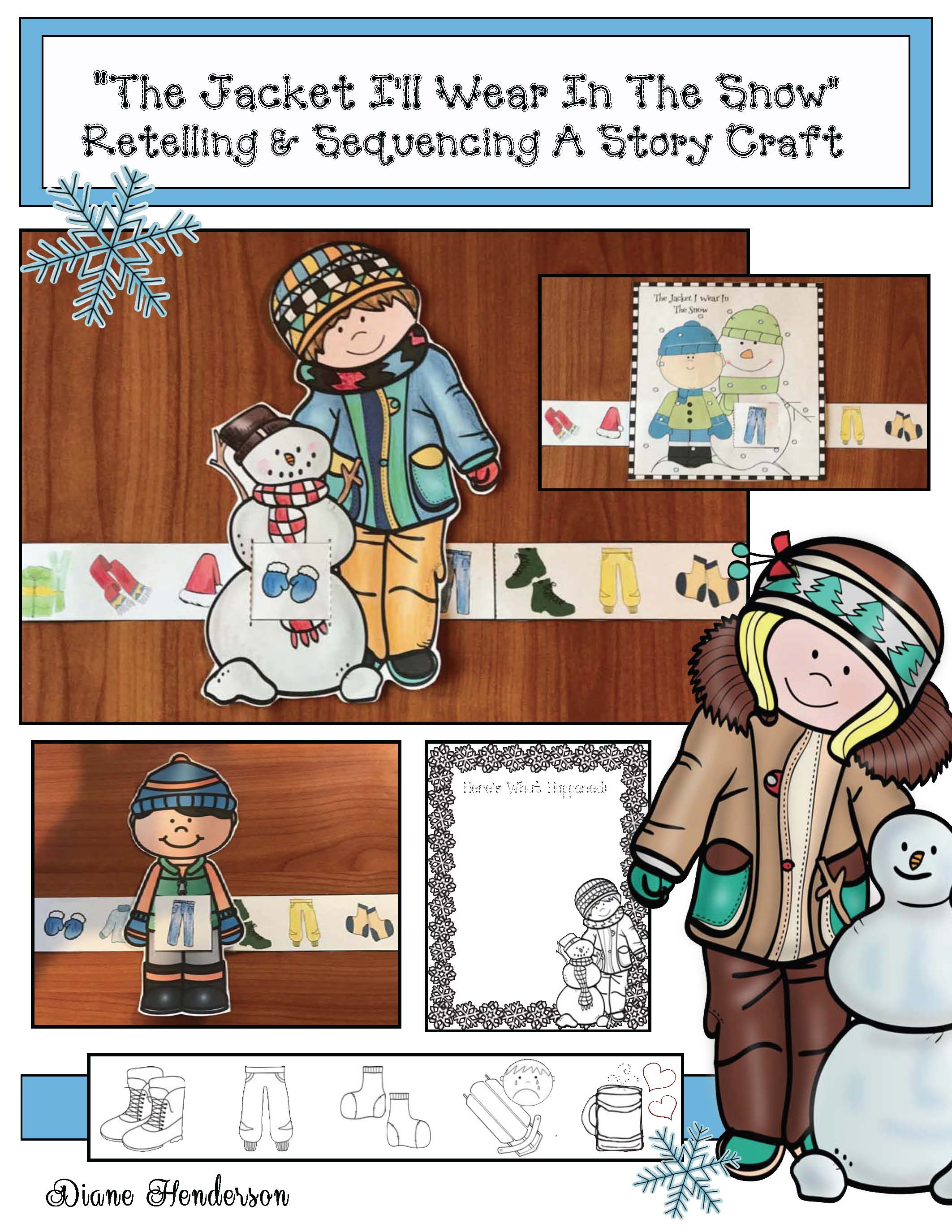 activities for the jacket I wear in the snow, writing prompts for january writing prompts for winter, activities for shirley neitzel books, winter clothing activities, winter crafts for kids, winter bulletin boards,