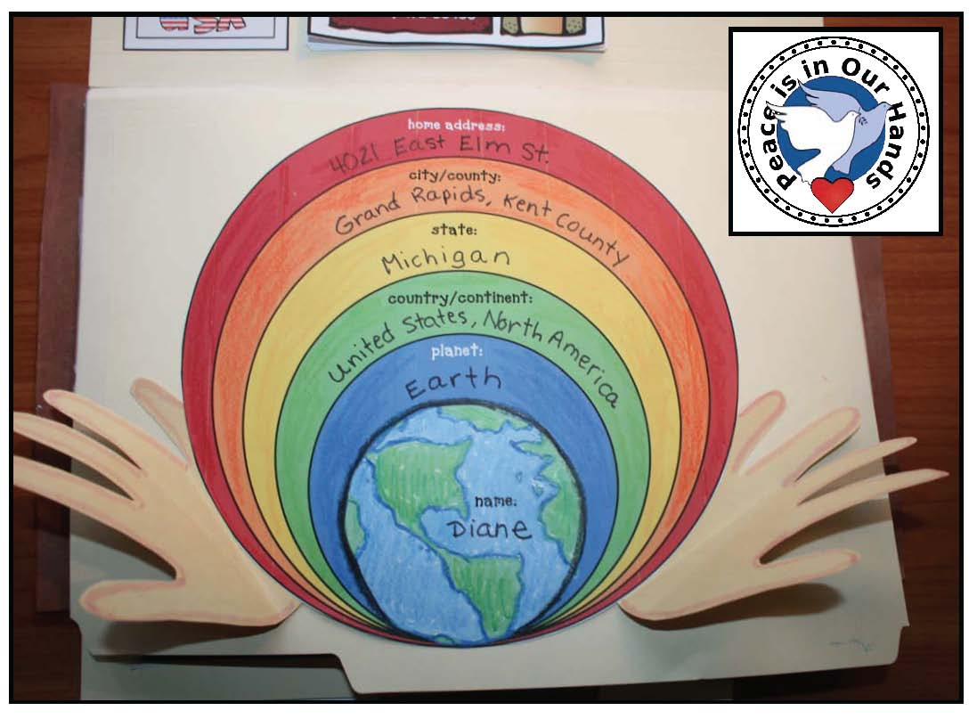 I've included a poster for the center of your display, as well as a suitcase sticker kiddos can earn upon completion.