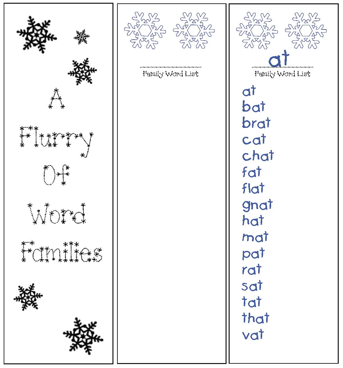 snowflake templates, word family activities, 70 word families, list of word families, january bulletin boards, snowflake patterns, snowflake crafts, snowflake bulletin boards, daily 5 word work, daily 5 word work for january, winter word work, word family word work, common core snowflakes, common core word families, list of word families, list of word family words