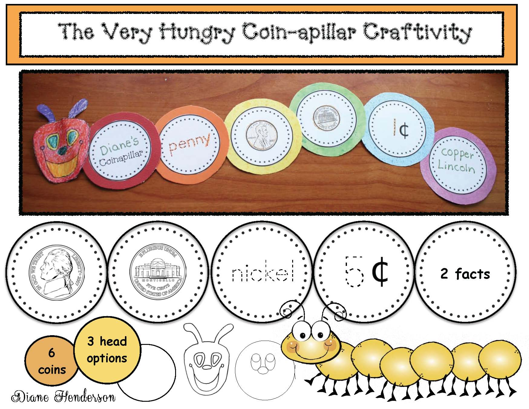 very hungry caterpillar activities, coin activities, telling time to the hour and half hour, telling time activities, caterpillar crafts, spring bulletin board ideas, butterfly activities, butterfly crafts, 2D shape activities, 3D shape activities, alphabet crafts, skip counting activities, coin crafts, coin activities, telling time to the hour activities, spring word work,