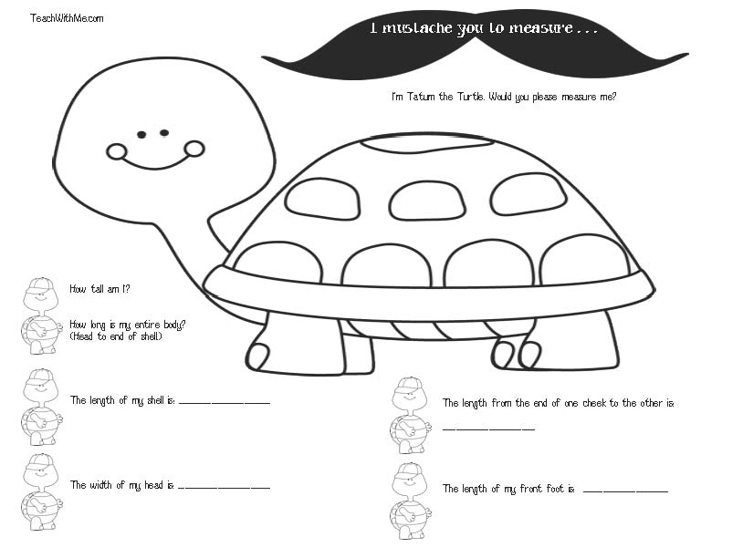 mustache activities, mustache lessons, mustache templates, measurement activities, measurement lessons, mustache rulers, free common core for first grade, free common core for kindergartern, 1.MD.1, 1.MD.2, K.MD.1, K.MD.2, measure me activities,