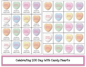 100 Day Candy Hearts