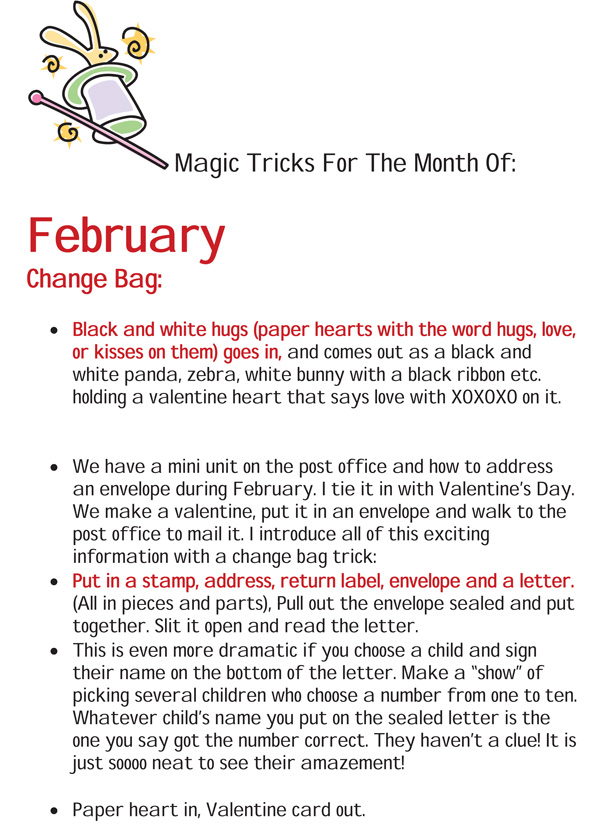 Magic Tricks For February Free Article