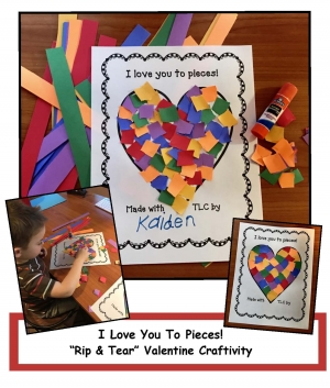 """I Love You To Pieces!"" Craftivity"