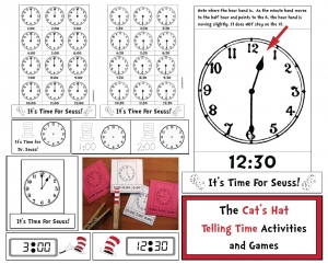 It's Time For Seuss Telling Time Packet