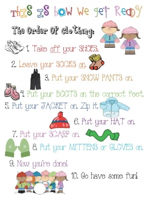 """This Is How We Get Dressed"" Ordinal Number Poster"
