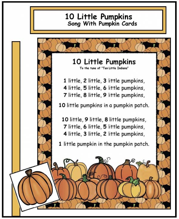 10 little pumpkins song with manipulatives, pumpkin activities, halloween songs, halloween games, pumpkin songs