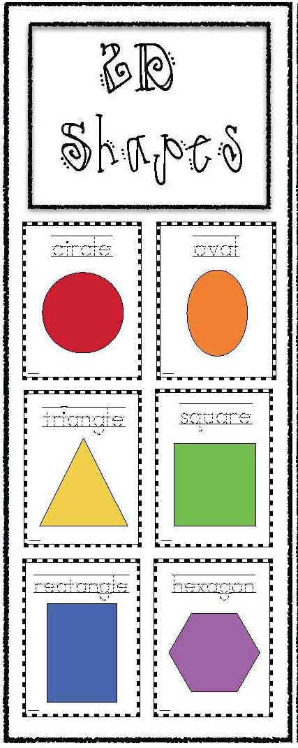 2D shapes activities, 2D shape posters, 2D shape games, 2D shape bookmarks