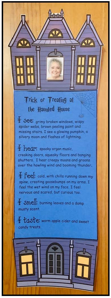 haunted house craft, halloween graphing extensions, writing rubrics,haunted house writing prompts, haunted house activities, october writing prompts, october bulletin board ideas, halloween graphing extensions, halloween bulletin board ideas, 5 senses activities, halloween activities, ideas for Halloween party day,