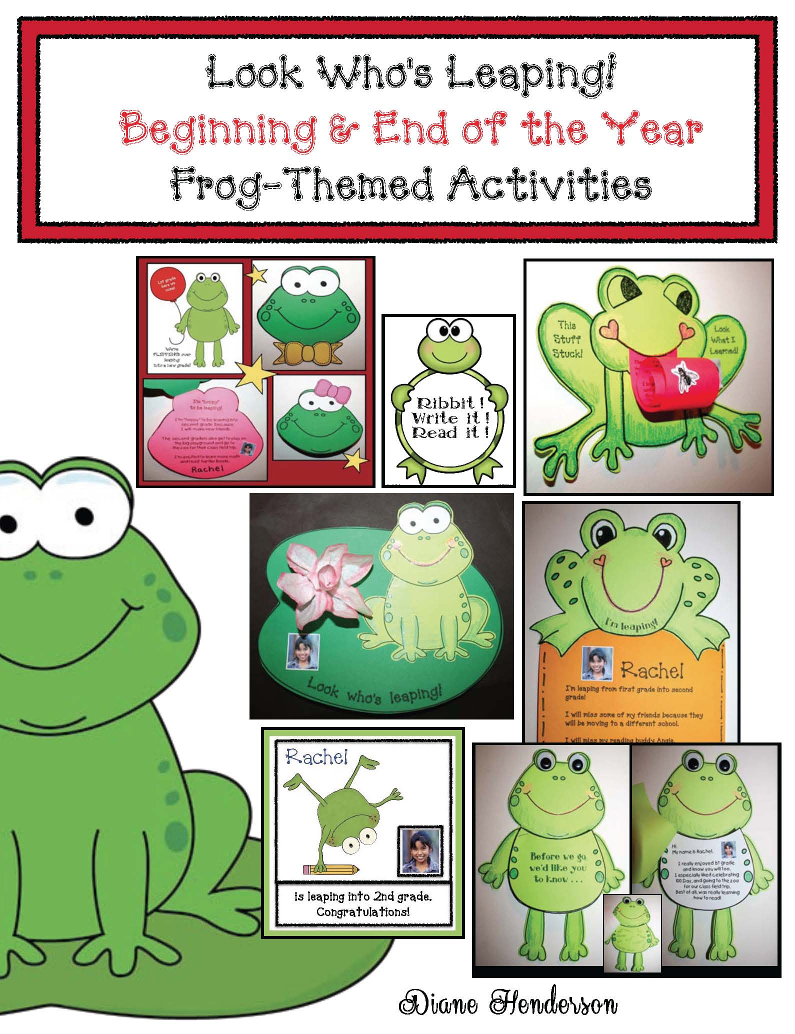 frog writing prompts and crafts