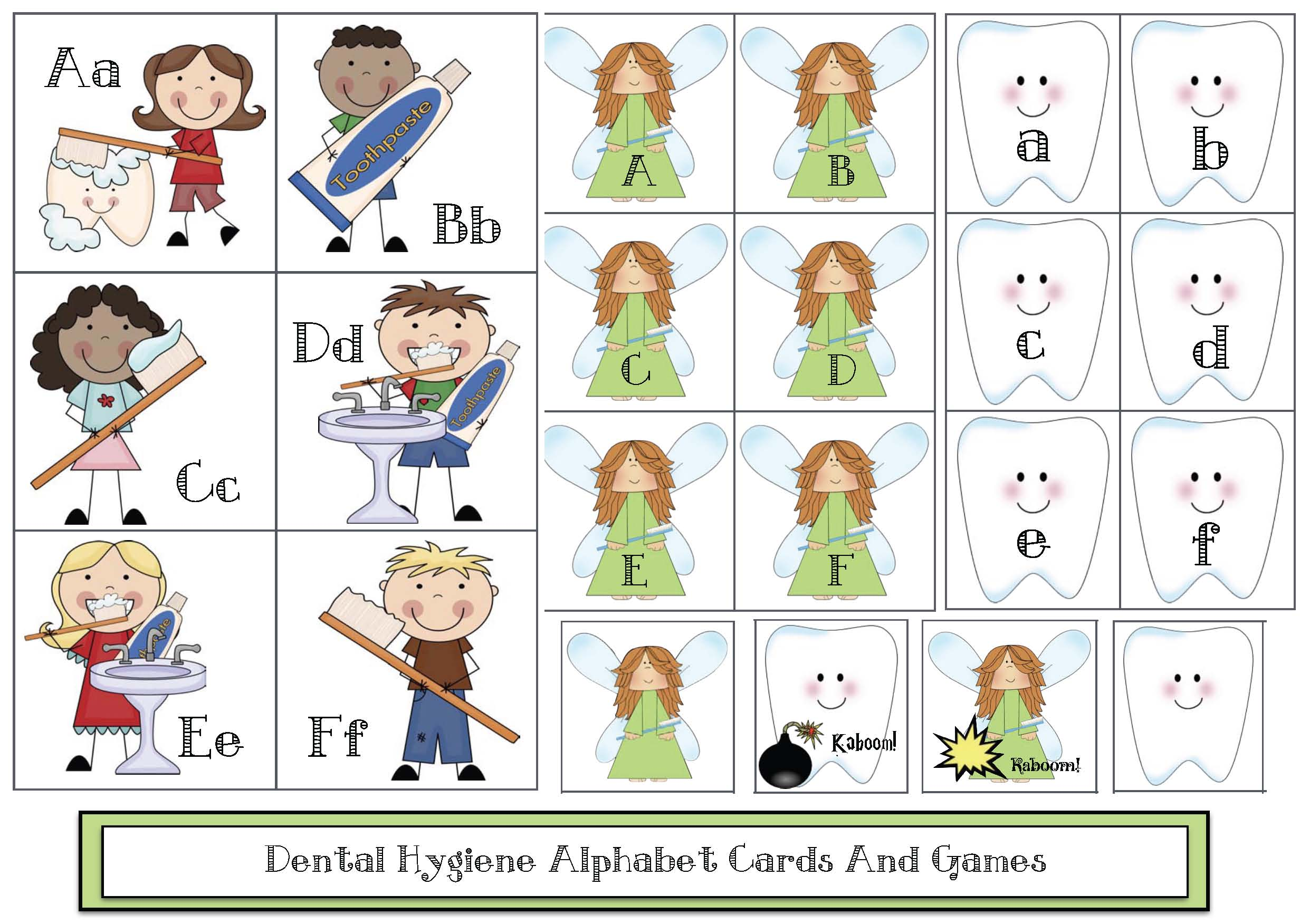 dental hygiene activites, dental hygiene alphabert cards, alphabet activities, alphabet games, alphabet centers, dental hygiene crafts, tooth crafts, tooth games, tooth centers, dental hygience centers, teeth activities, math activities for dental hygiene
