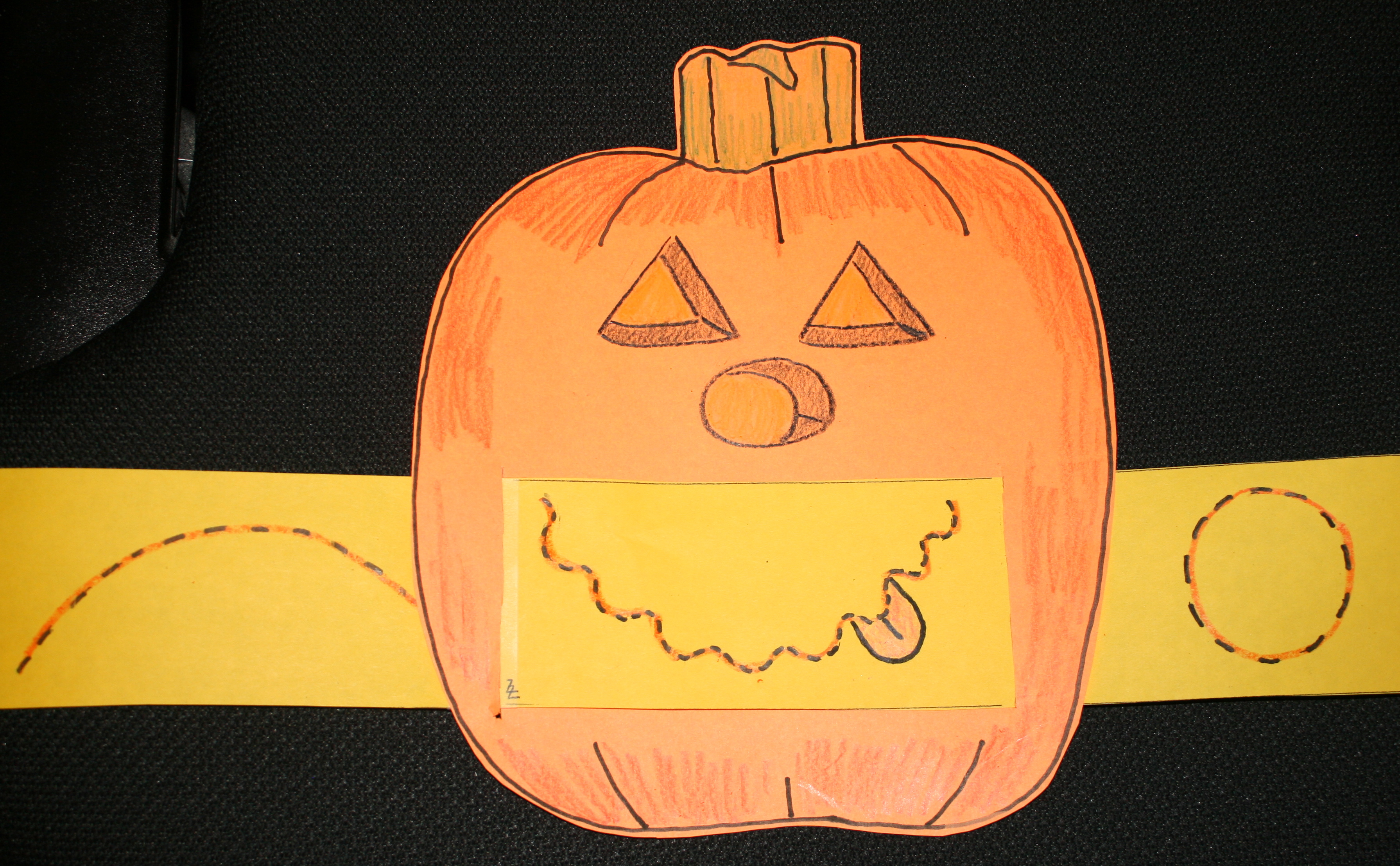 Freebie Feelings Pumpkin Mouth craft, pumpkin activities, halloween crafts, pumpkin crafts, pumpkin centers