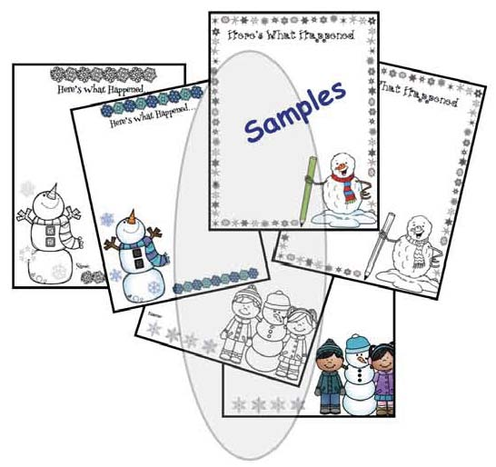 sneezy the snowman, activities for sneezy the snowman, snowman crafts, retelling a story activities, winter writing prompts, sequencing a story activities