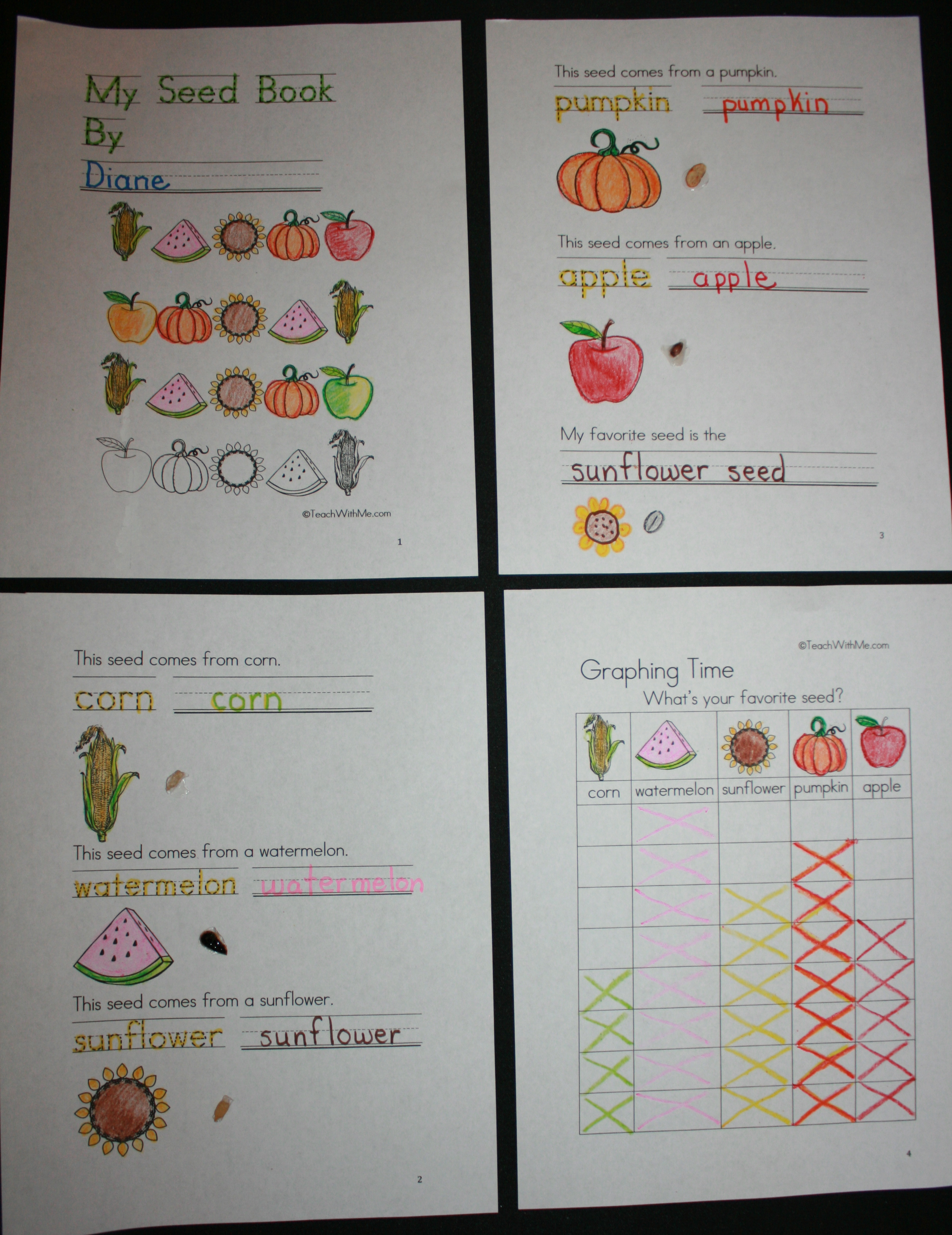pumpkin activities, pumpkin crafts, pumpkin math, pumpkin investigations, seed booklet, seed sorting, pumpkin games, telling time activities, digital and analog time activities, money activities, measurement activities