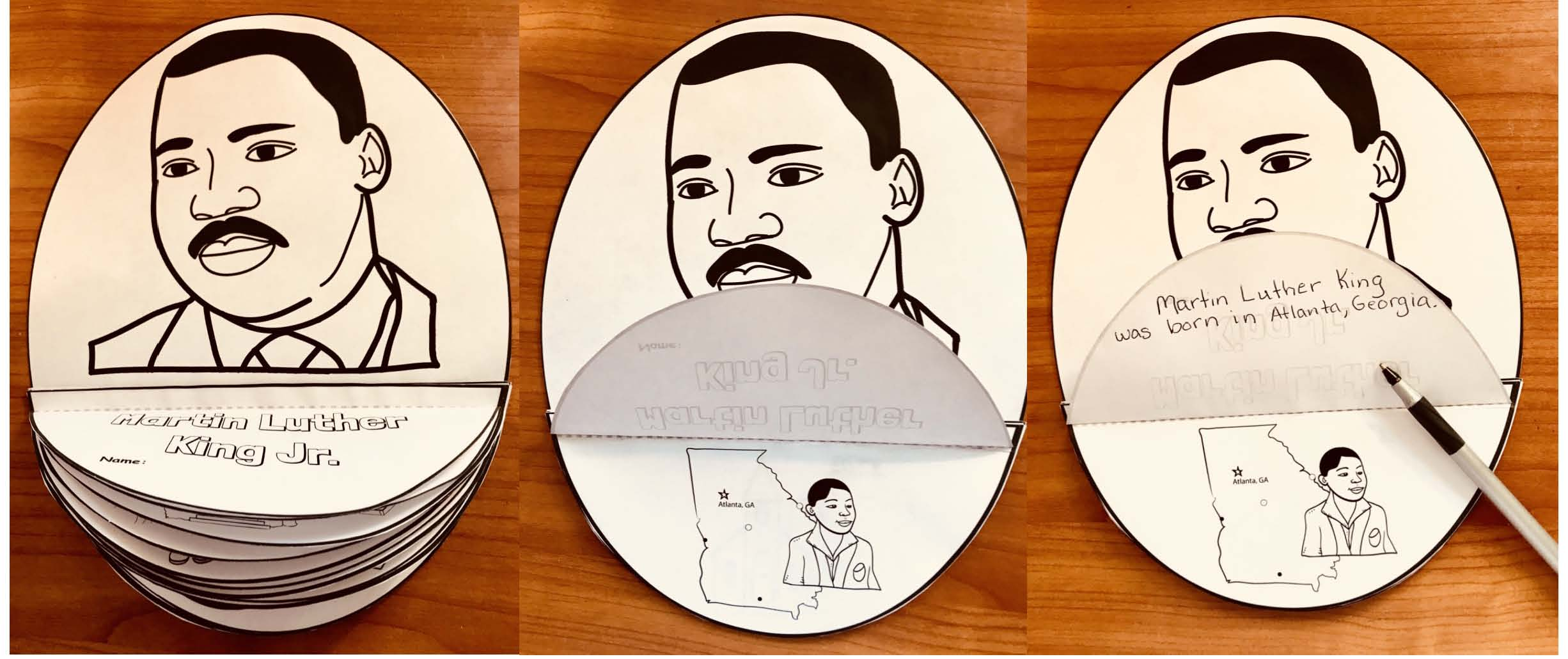 mlk activities, martin luther king activities, martin luther king facts, martin luther king crafts, martin luther king bulletin board ideas, martin luther king writing prompts, jaunary bulletin boards