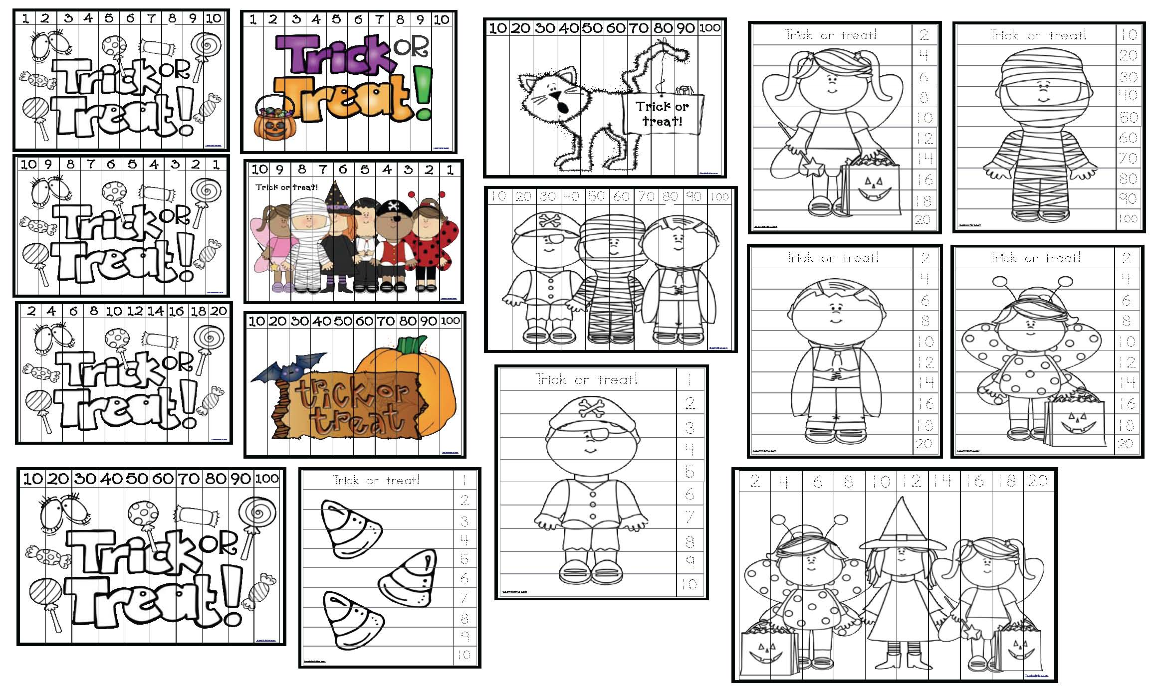 hallloween games, halloween crafts, halloween activities, halloween worksheets, halloween writing prompts, halloween games, shape activities, candy bones activities, candy bones graphing, I spy worksheets