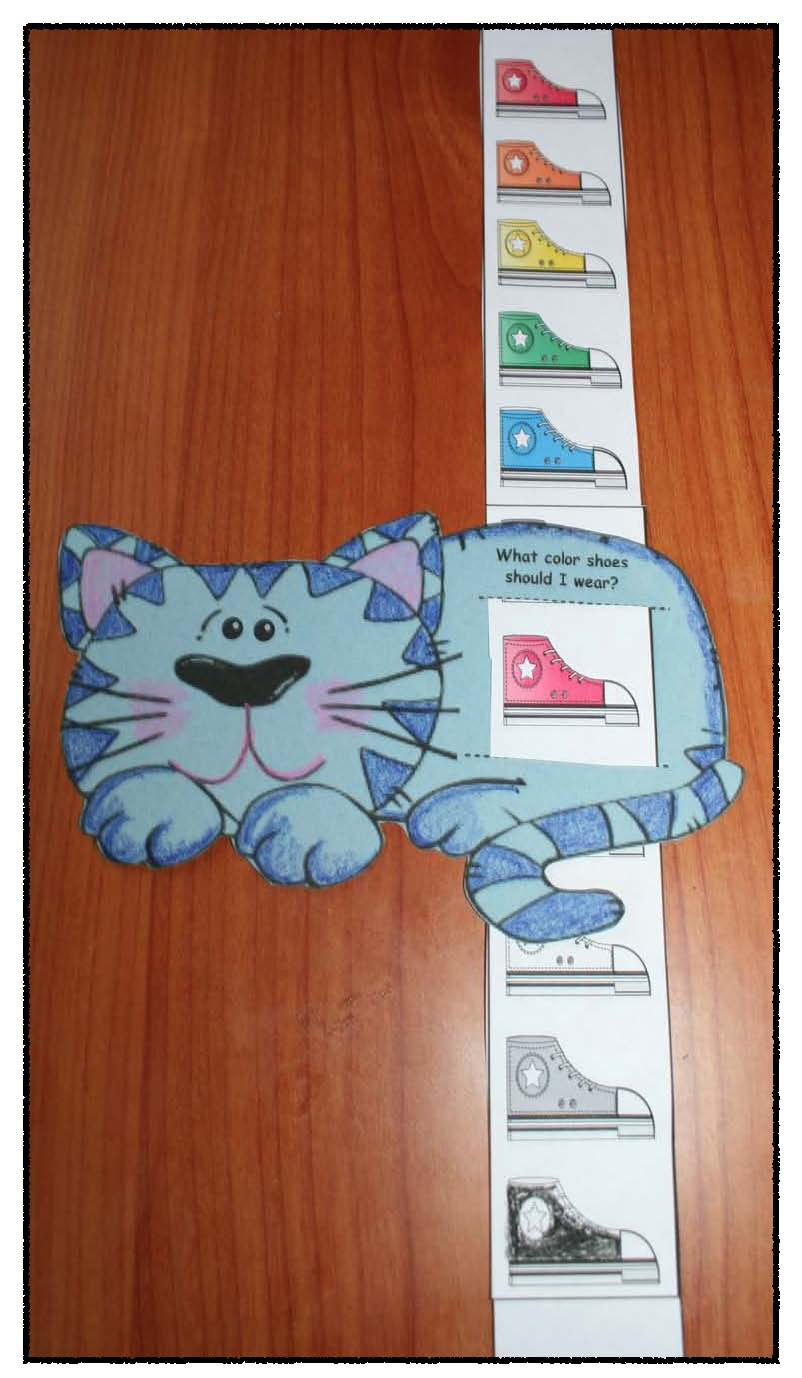 Pete the cat shoe color slider