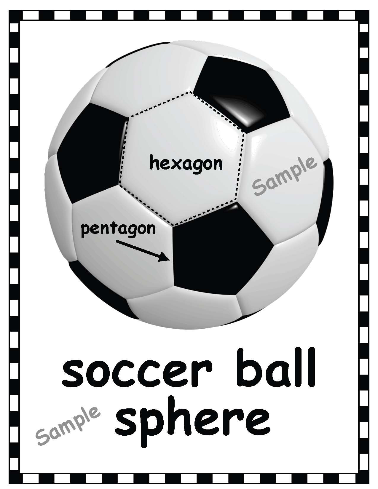 SOCCER sample ball poster copy