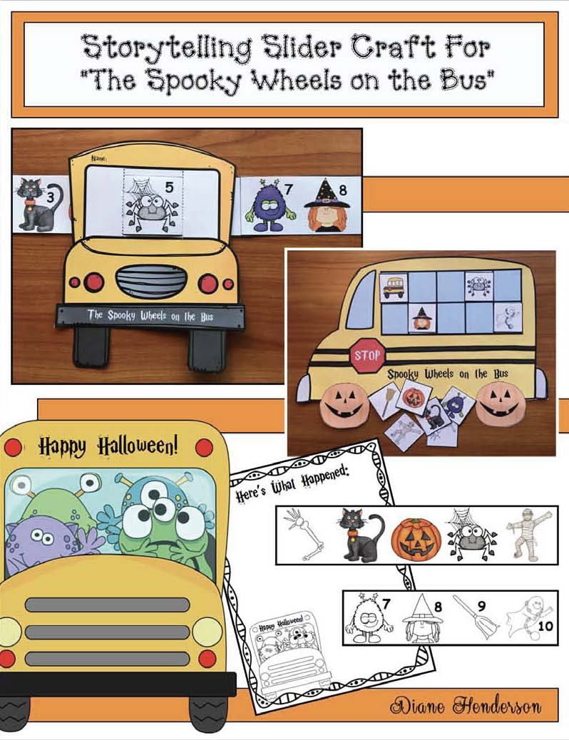 Activities for the spooky wheels on the bus