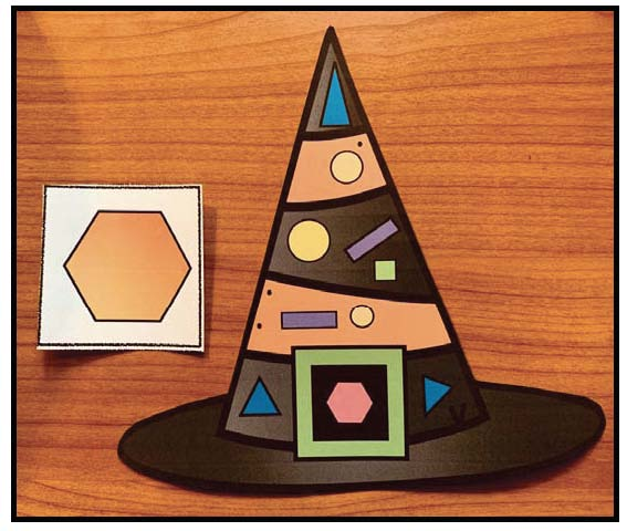 2D shapes, hexagon activities 2D shape activities, 2D shape crafts, 2D shape games, 2D shape assessments, 2D shape centers, Halloween party ideas, Halloween party games for school
