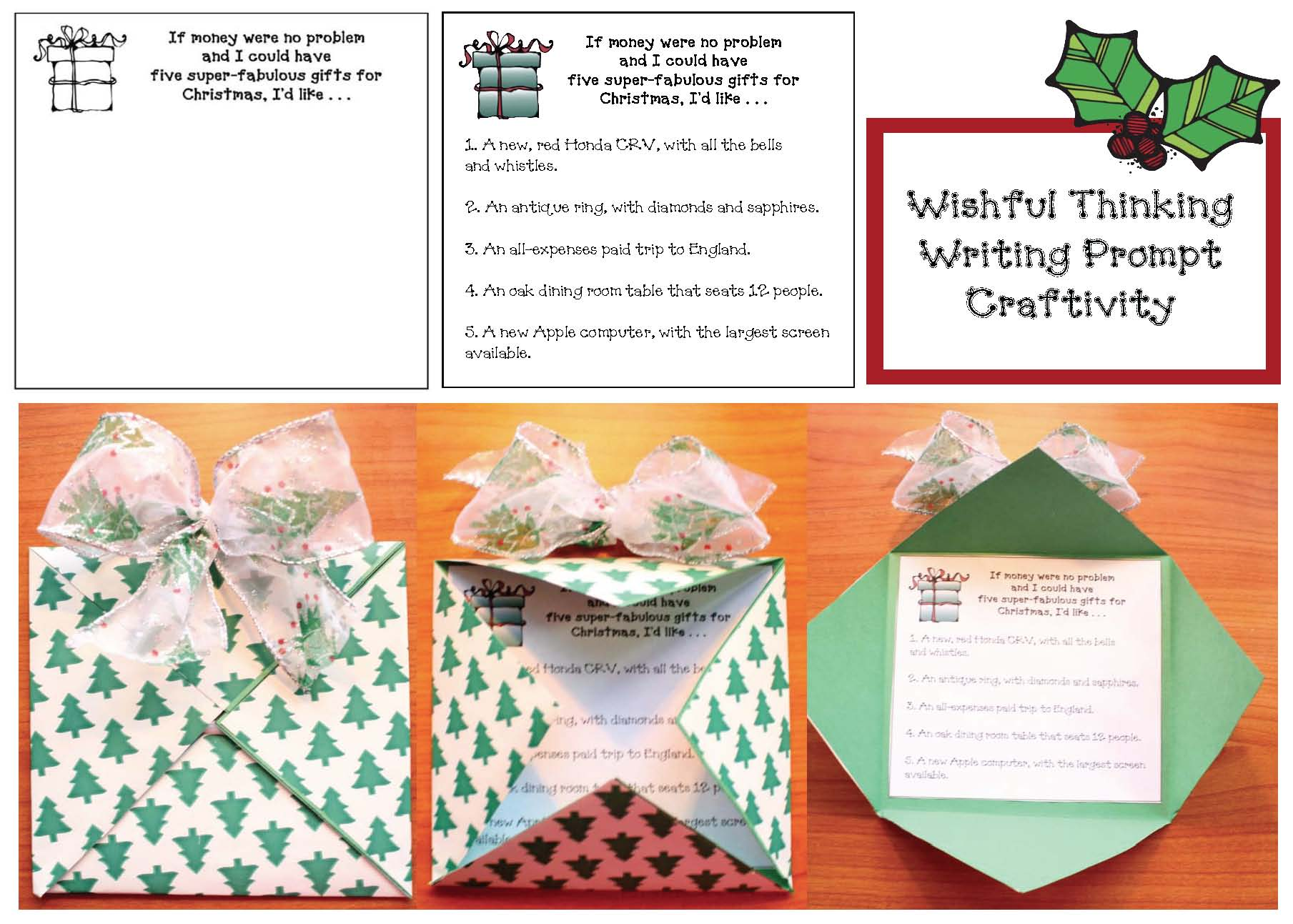 December writing prompts, Christmas crafts, Christmas writing prompts, December bulletin board ideas