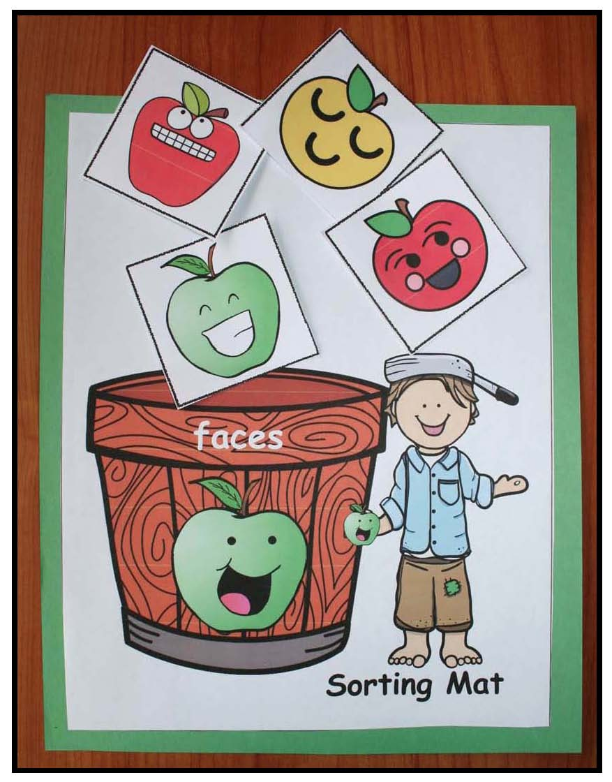 apple games sorting buckets