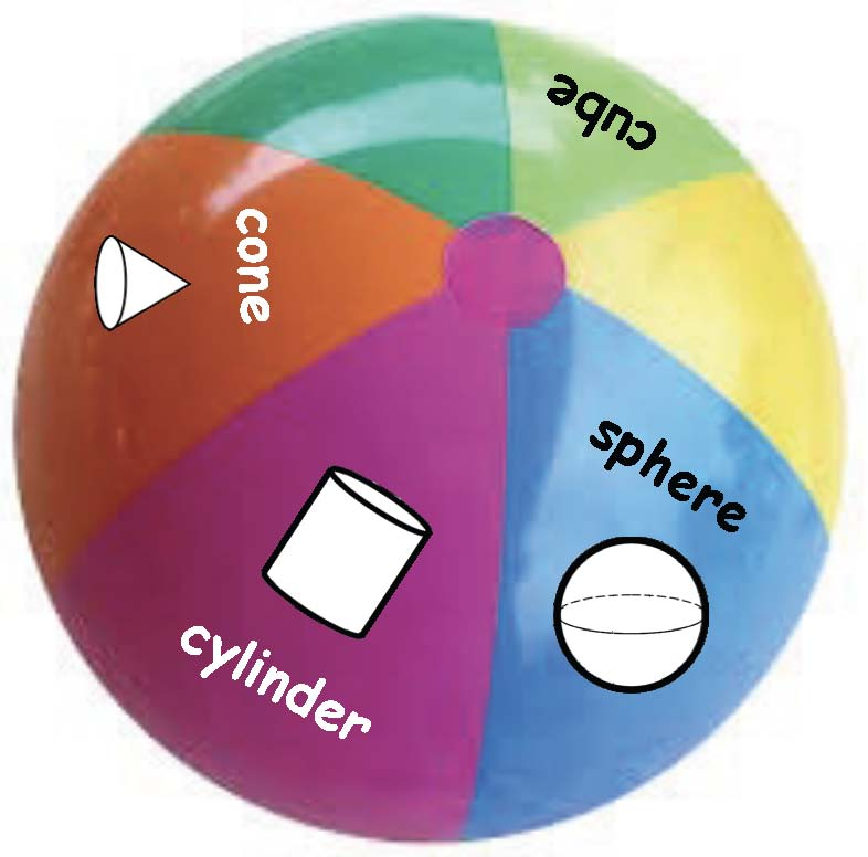 beachball 3D shape games
