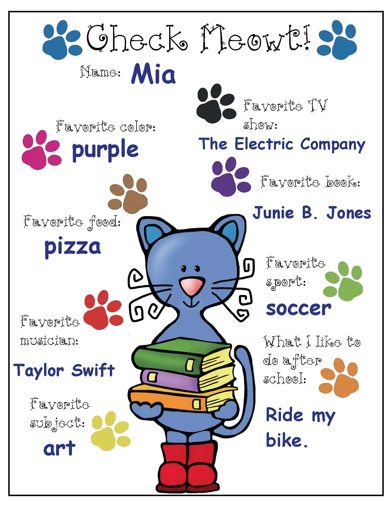 pete the cat activities, pete the cat crafts, cat crafts, back to school writing prompts, back to school bulletin boards, icebreakers, icebreakers for back to school, check meowt, getting to know you activities