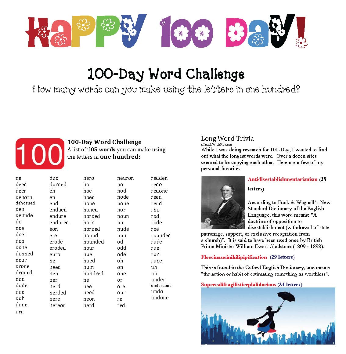 100 day games, 100 day activities, 100 day ideas, 100 day crafts, 100 day bulletin boards, analog time activities, digital time activities, telling time games, 100 day puzzles, blank 100 chart, 100 chart templates, traceable 100 chart, fill in the missing numbers 100 chart, activities for 100 Hungry ants book, ant activities, heart mystery picture 100 chart, 100 day games, how many words can you make using the letters in one hundred,